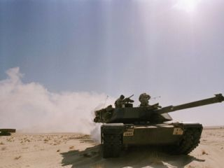 Saudi Arabia Army U.S Forces Maneuver Exercise Kuwait Crisis Photographic Print by John Gaps III
