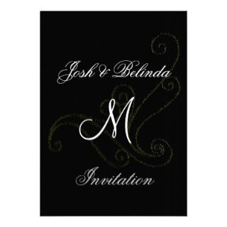 Embossed Classic Wedding invitation