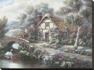 Ashdon Cottage, Essex Stretched Canvas Print by Carl Valente