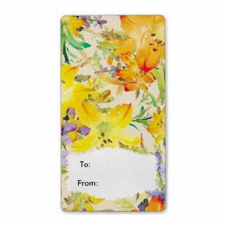 Label Vintage Floral flowers Gift Labels Stickers