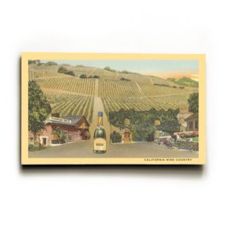 California Wine Country Wood Sign