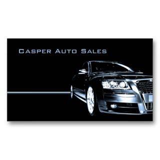 Concesionario de coches usado tarjetas de negocios de