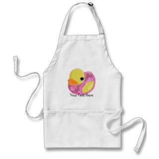 Pink Camo Ducky Aprons