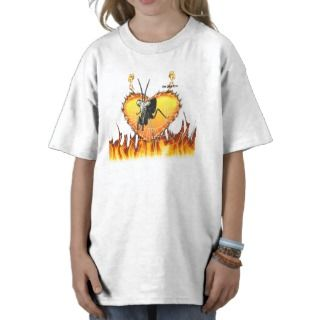 Chromed praying mantis design 2 with fire and web. shirts