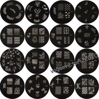 16× Nail Art Stamp Stamping Schablone Set