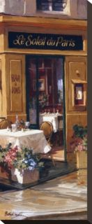 La Petite Terrasse   Detail Stretched Canvas Print by George Botich