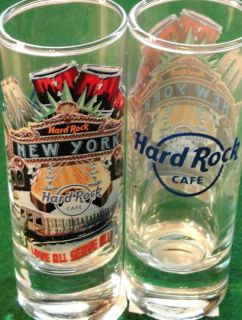 Hard Rock Cafe NEW YORK 2011 City Tee Shirt Graphic 4 SHOT GLASS