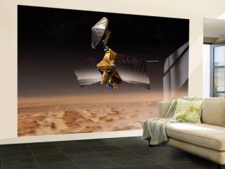 Mars Reconnaissance Orbiter Passes above Planet Mars Wall Mural – Large