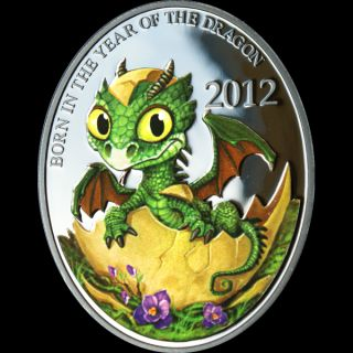 Niue 2012 1$ Year of the Dragon   Baby Proof Silver Coin