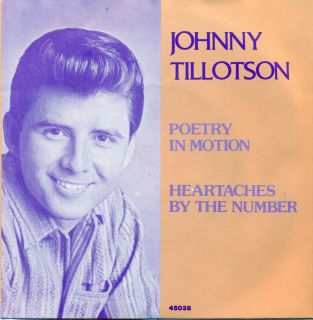 Poetry in Motion / Heartaches by the number 7 SINGLE (S9842)