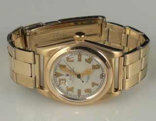Vintage Rolex Bubbleback 14k Solid Gold Chronometer Watch California