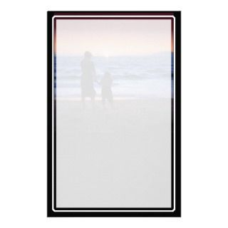 Mother & Daughter Walk on the Beach (Mothers Day) Stationery