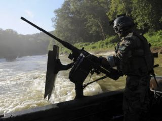 Special Warfare Combatant Craft Crewman Manning an M240N .762Mm Machine Gun at Fort Knox Photographic Print