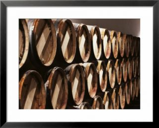 Casks in Cellar, Chateau Lynch Bages, Pauillac, Medoc, Cote dOr, Burgundy, France Pre made Frame