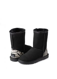 UGG 3/4 Boots With Zebra Print