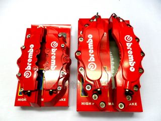NEW BIG RED BREMBO LOOK BRAKE CALIPER COVER F/R 4 PCS
