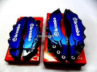 NEW BIG DARK BLUE BREMBO LOOK BRAKE CALIPER COVER F/R 4 PCS