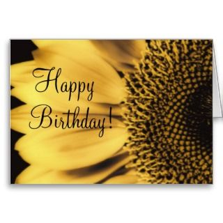 Happy Birthday Sunflower Card, template, personali