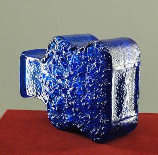 Retro Art Glass Vase, by Lars Helsten for Skruf Sweden