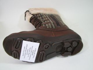 Ugg Edmonton Boot 3226 Womens Sz 9 Brown Leather, Choco Plaid Lace Up
