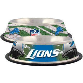Detroit Lions Stainless Steel Pet Bowl   Team Shop   Dog