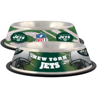 New York Jets Stainless Steel Pet Bowl   Team Shop   Dog