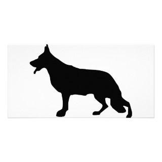 Schäferhund Hundeschwarzes Plantilla Para Tarjeta De Foto de