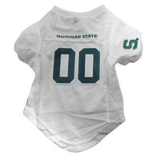 Michigan State Spartans Premium Pet Football Jersey   Jerseys   NCAA