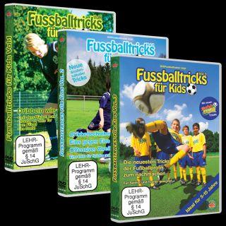 Fussballtricks für Kids   Trickser Paket (3 DVDs)