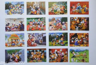 Walt Disney MICKEY MOUSE Club House 16 Postcard Set #3