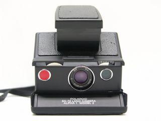 Polaroid SX 70 Land Camera Alpha 1 Model 2 in schwarz mit Anleitung