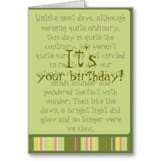 Greeting Cards, Note Cards and Birthday Poem Greeting Card Templates