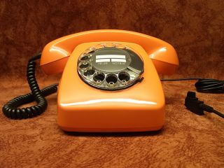 altes antik Telefon FeTAp 611 2 Orange Telephone Fernsprecher TOP