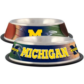 Michigan Wolverines Stainless Steel Pet Bowl   Team Shop   Dog