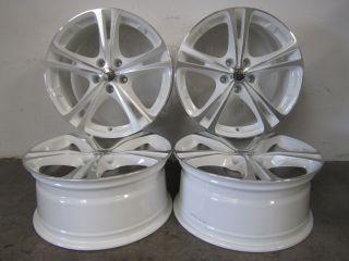 Borbet XL Weiß Poliert 18 Zoll Alufelgen Audi VW Seat Skoda Mercedes