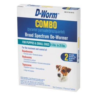 D Worm Combo Broad Spectrum De Wormer   Health & Wellness   Dog