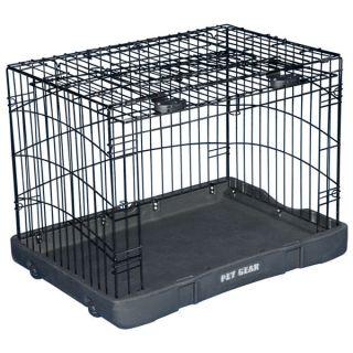 Pet Gear Travel Lite Double Door Steel Crate   Summer PETssentials   Dog