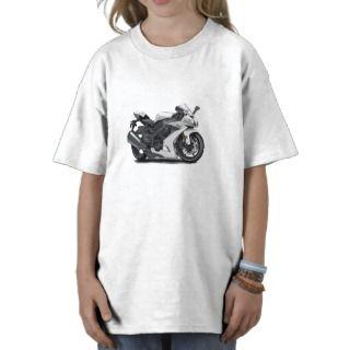 Ninja White Bike Tee Shirts