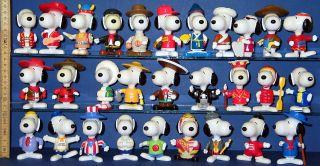 Snoopy Snoopys  Peanuts 29 x Weltreise McDonalds Figuren