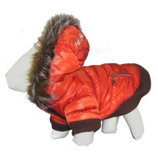 Pet Life Orange Ski Parka Dog Coat   Dog   Boutique