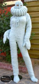 SUPER KID Mohair Langhaar Catsuit Overall Sweater M XL Fetisch