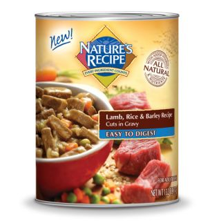Nature's Recipe Easy to Digest Lamb & Rice Cuts In Gravy Formula Canned Dog Food   Sale   Dog