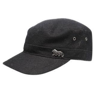 Lonsdale Melton Army Military Kappe Cap schwarz Basecap Herren
