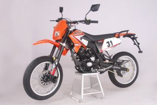 SBF 31 50cc/4Takt EEC Enduro Cross Dirt Bike Orange
