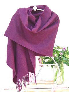 Cashmere Kaschmir Schal Stola Wolle Lila violett