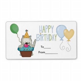 Label Kids Birthday Labels Stickers Large Size