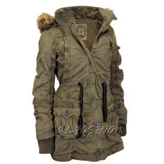 Damen parka winterjacke mantel outdoor wintermantel kunstfell kapuze