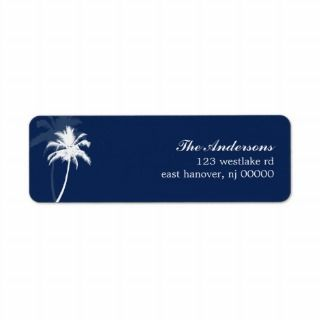 Palm Trees Tropical Beach Wedding Custom Return Address Label