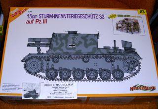 WWII german 15cm Sturm Infantriegeschütz 33 + 4 Figure 135 Dragon