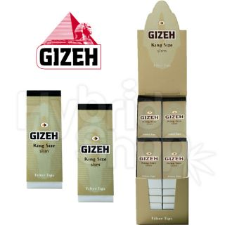 24x 35 GIZEH King Size Slim Filtertips KS Filter Tips ocb im shop